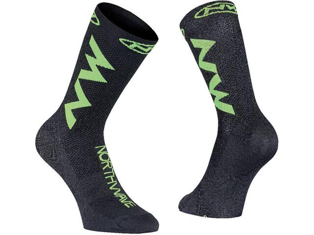 Northwave Extreme Air Socks black/lime fluo